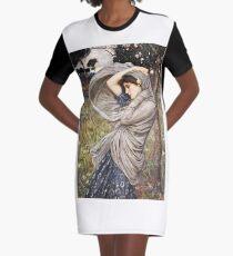 John William Waterhouse - Boreas  Graphic T-Shirt Dress