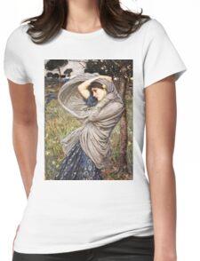 John William Waterhouse - Boreas  Womens Fitted T-Shirt