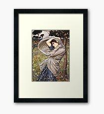 John William Waterhouse - Boreas  Framed Print