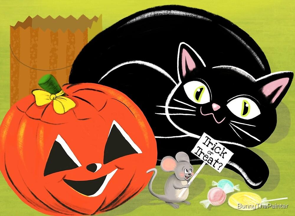 Halloween Trick Or Treat Trio by BunnyThePainter