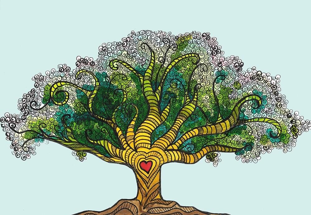 loving tree by pinkbirds