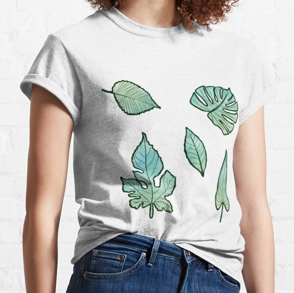 Watercolour Leaf Collection Classic T-Shirt