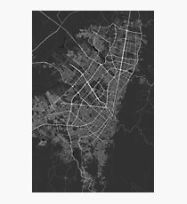 Bogota, Colombia Map. (White on black) Photographic Print