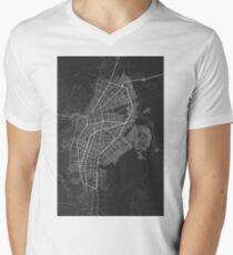 Cali, Colombia Map. (White on black) Men's V-Neck T-Shirt