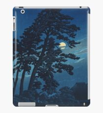Kawase Hasui - Full Moon In Magome iPad Case/Skin