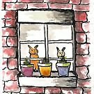 From the Inside Looking Out - Pet World by DianePalmerArt