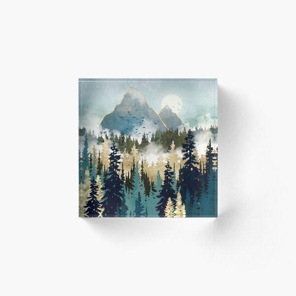 Misty Pines Acrylic Block