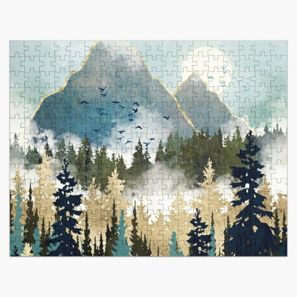 Misty Pines Jigsaw Puzzle