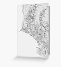 Lima, Peru Map. (Black on white) Grußkarte