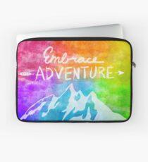 """Embrace Adventure"" Inspirational Word Art Laptop Sleeve"