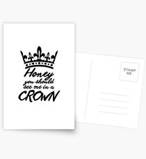 BBC Sherlock - Honey You Should See Me In A Crown Postcards