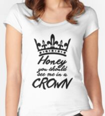 BBC Sherlock - Honey You Should See Me In A Crown Women's Fitted Scoop T-Shirt