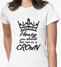 BBC Sherlock - Honey You Should See Me In A Crown Women's Fitted T-Shirt