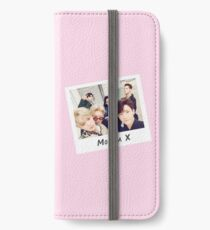 Monsta X Polaroid (Rosa) iPhone Flip-Case/Hülle/Klebefolie