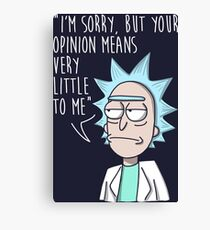 rick opinion Canvas Print