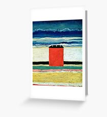 Kazimir Malevich - Red House  Greeting Card