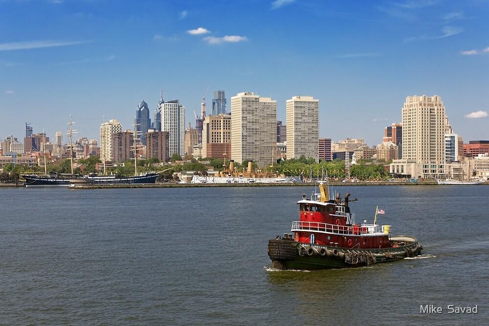 City - Camden, NJ - The city of Philadelphia by Michael Savad