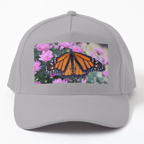 Monarch Butterfly & Flowers Baseball Cap