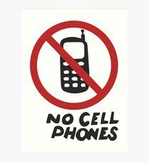 Luke's Diner No Cell Phones t-shirt - Gilmore Girls, Stars Hollow, Rory, Lorelai, The WB Art Print