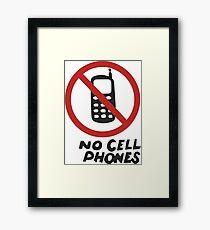 Luke's Diner No Cell Phones t-shirt - Gilmore Girls, Stars Hollow, Rory, Lorelai, The WB Framed Print