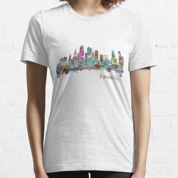 Kansas City Skyline - Color Essential T-Shirt