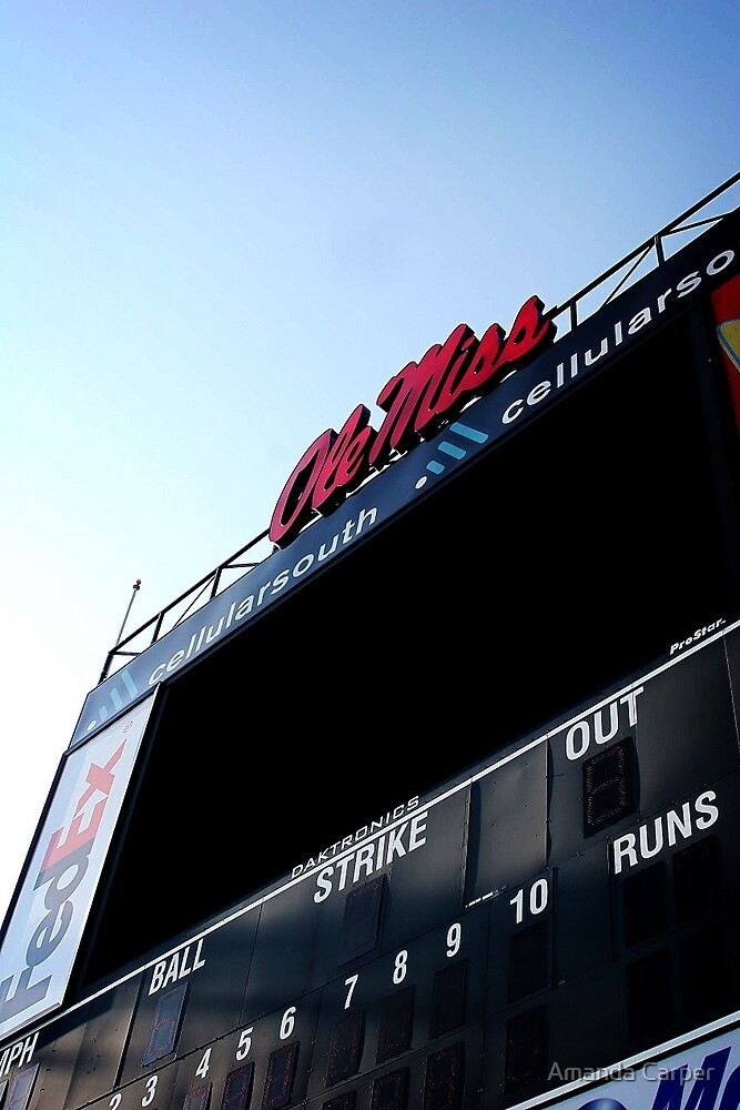 Ole Miss Baseball Scoreboard  by Amanda Carper