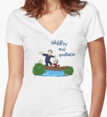 Dr. Glidden & Dr. Wallach mashup Women's Fitted V-Neck T-Shirt