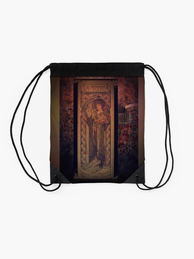 Alternate view of La Tosca Revisited Drawstring Bag