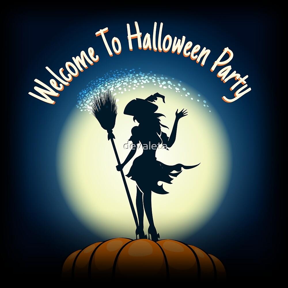 Halloween Party Invitation Poster by devaleta