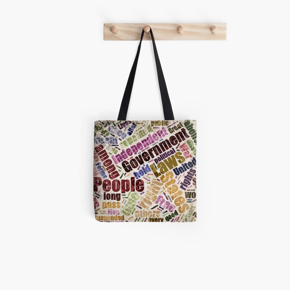 Declaration of Independence Word Cloud Tote Bag