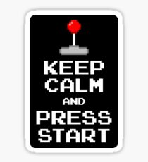 Keep Calm & Press Start Sticker
