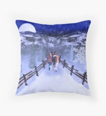 A Walk in the Snow Throw Pillow