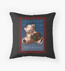 ABC Teddy Throw Pillow