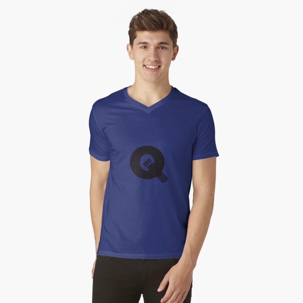 Q is for Quiver - Black V-Neck T-Shirt