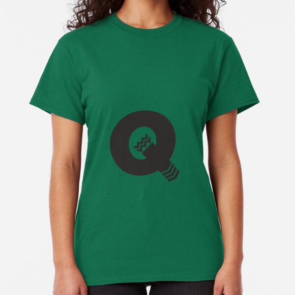 Q is for Quiver - Black Classic T-Shirt