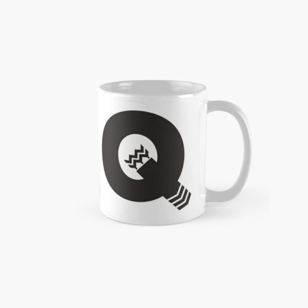 Q is for Quiver - Black Classic Mug