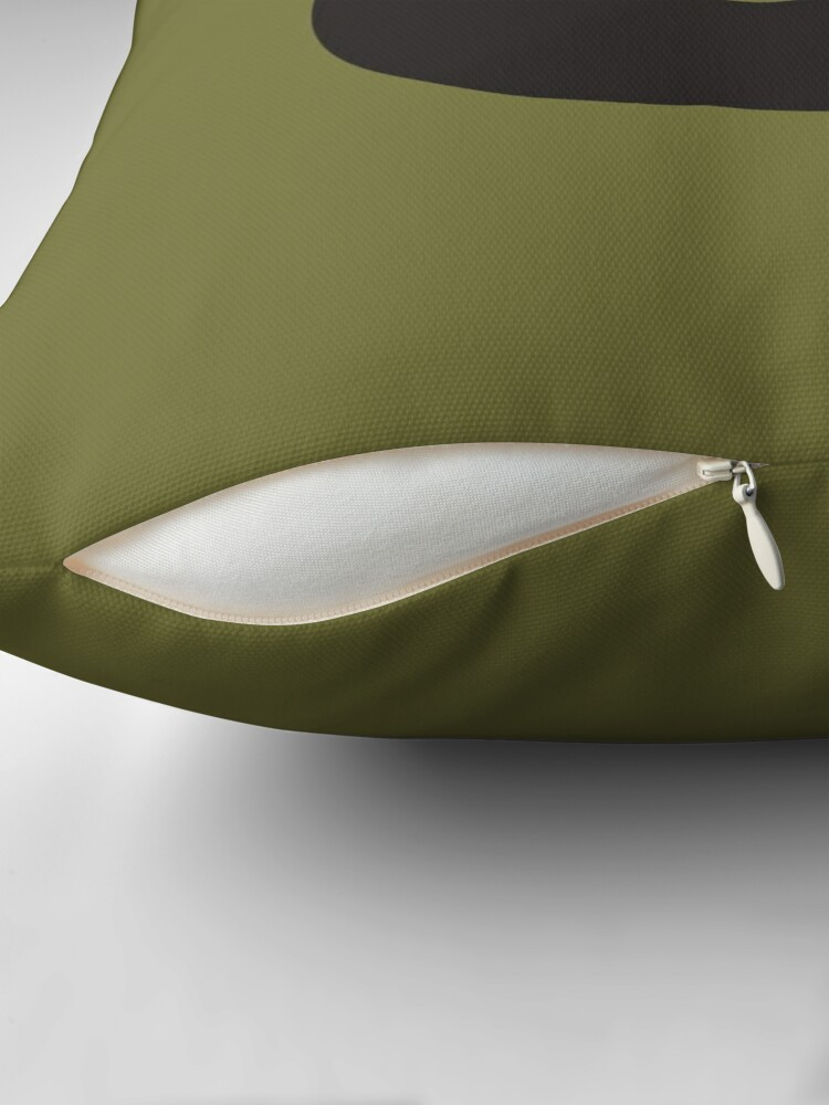 Alternate view of Q is for Quiver - Black Throw Pillow