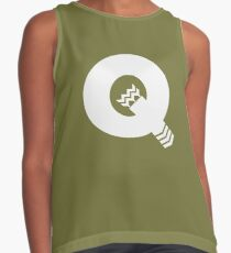 Q is for Quiver - White Contrast Tank