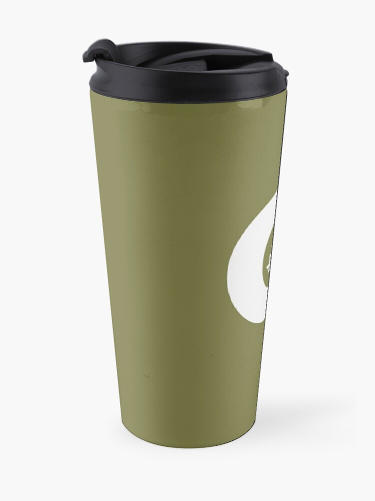 Alternate view of Q is for Quiver - White Travel Mug