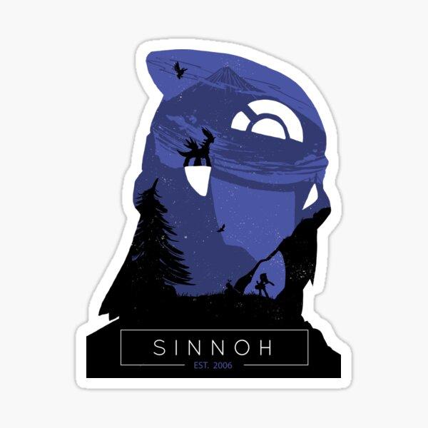 Sinnoh Region Photographic Print Sticker