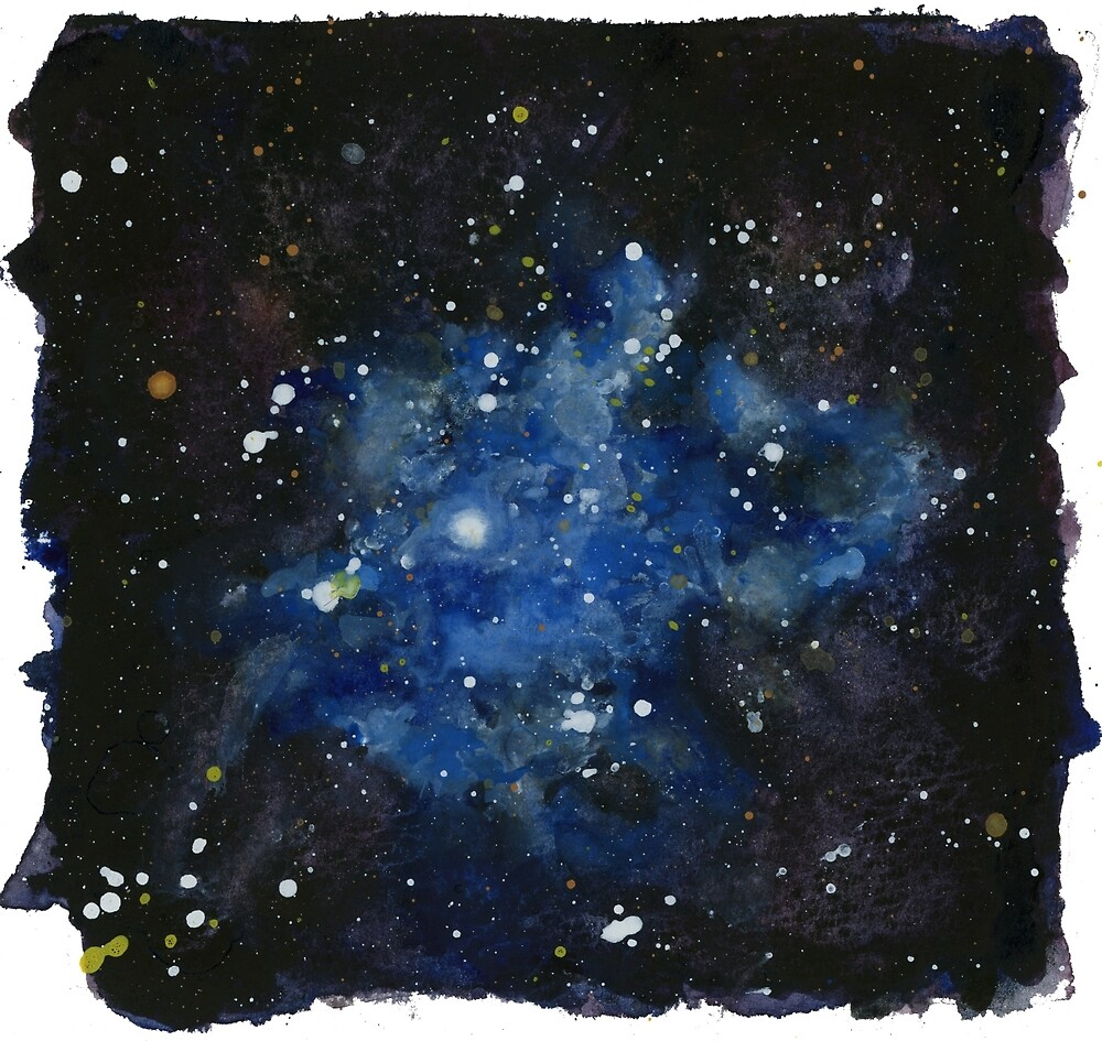 Iris Nebula (NGC 7023) Watercolor Interpretation by purple-mango