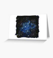 Iris Nebula (NGC 7023) Watercolor Interpretation Greeting Card