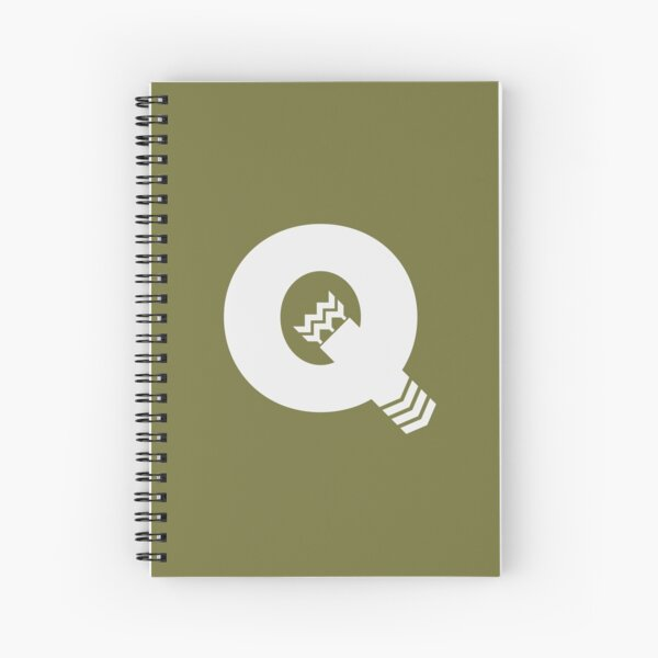 Q is for Quiver - White Spiral Notebook