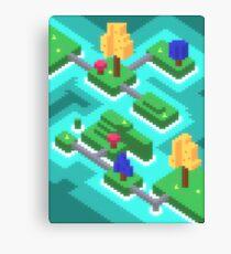 Pixel Islands Canvas Print