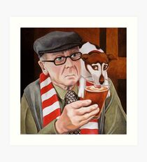 A penalty and a pint. Art Print