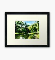 Willow By the Lake Framed Print