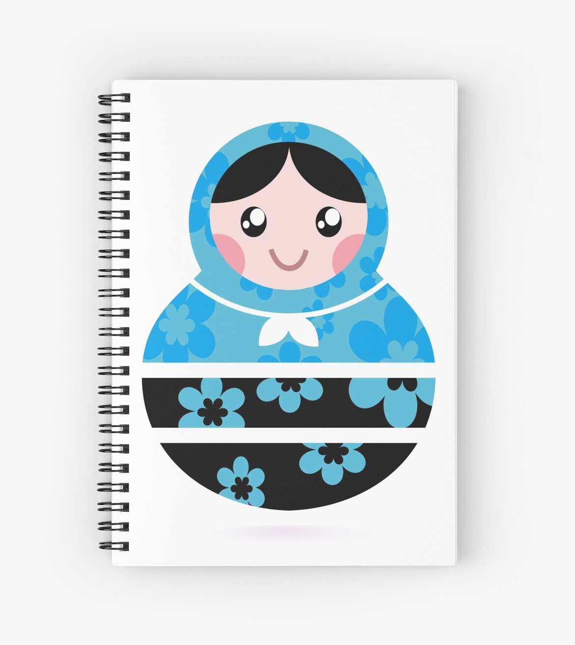 Traditional russian Matrioshka dolls by Bee and Glow Illustrations Shop