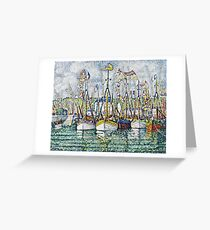 Paul Signac - Blessing Of The Tuna Fleet At Groix  Greeting Card