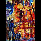Fire Mosaic iPhone Case by Ronald Hannah