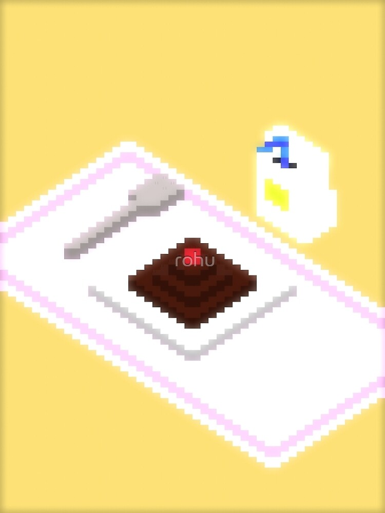 Plate Of Dessert Pixels by rohu